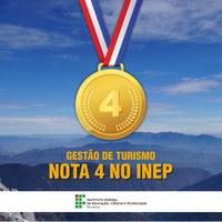 Curso superior de Tecnologia em Gestão do Turismo obtém nota 4 em avaliação do MEC