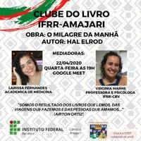 Clube do Livro do Campus Amajari fará primeiro encontro nesta quarta-feira, 22