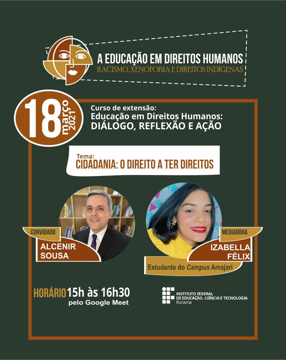 Curso do IFRR/Amajari sobre direitos humanos inicia-se nesta quinta, 18