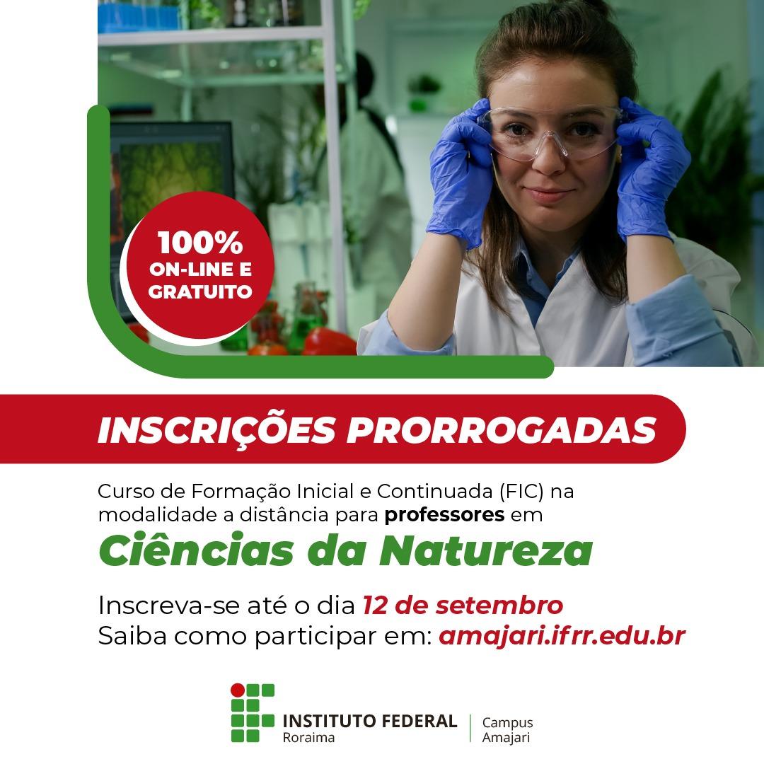 IFRR prorroga inscrições de professores indígenas do Amajari no curso FIC em Ciências da Natureza
