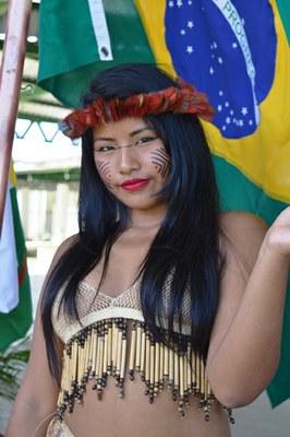 Agora técnica em Aquicultura, a aluna indígena Marilda Williamns. Foto: Ramon Queiroz