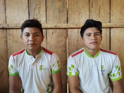 Amarildo e Mateus - alunos yekuana - Foto Divulgação