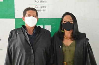 Ex-diretor do CAM, Sterfson Barros e a diretora-geral Pier Cunha