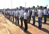 Alunos do CAM participam do desfile de 7 de setembro em Amajari